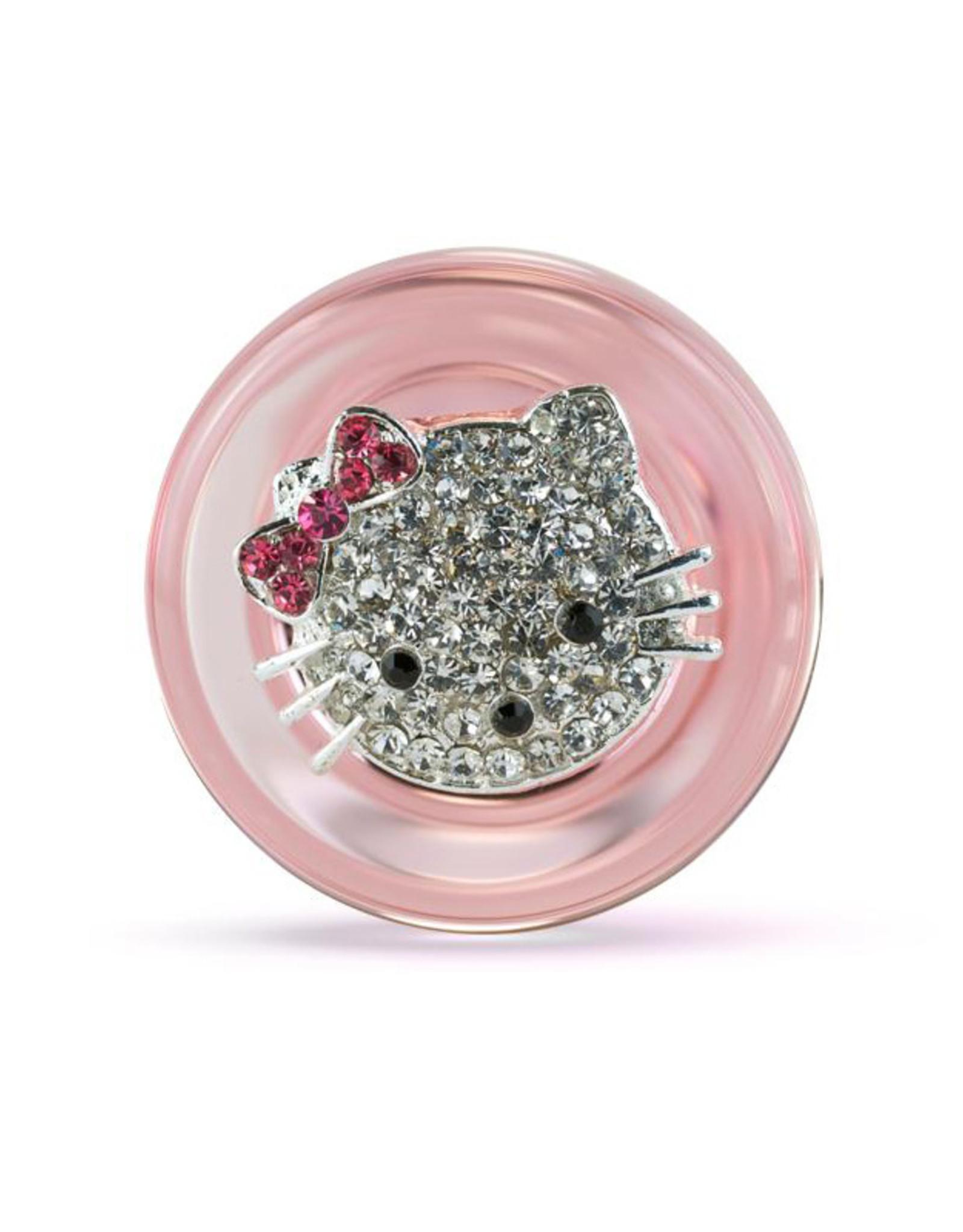 Crystal Delights Sm Plug w/ Kitty Pink
