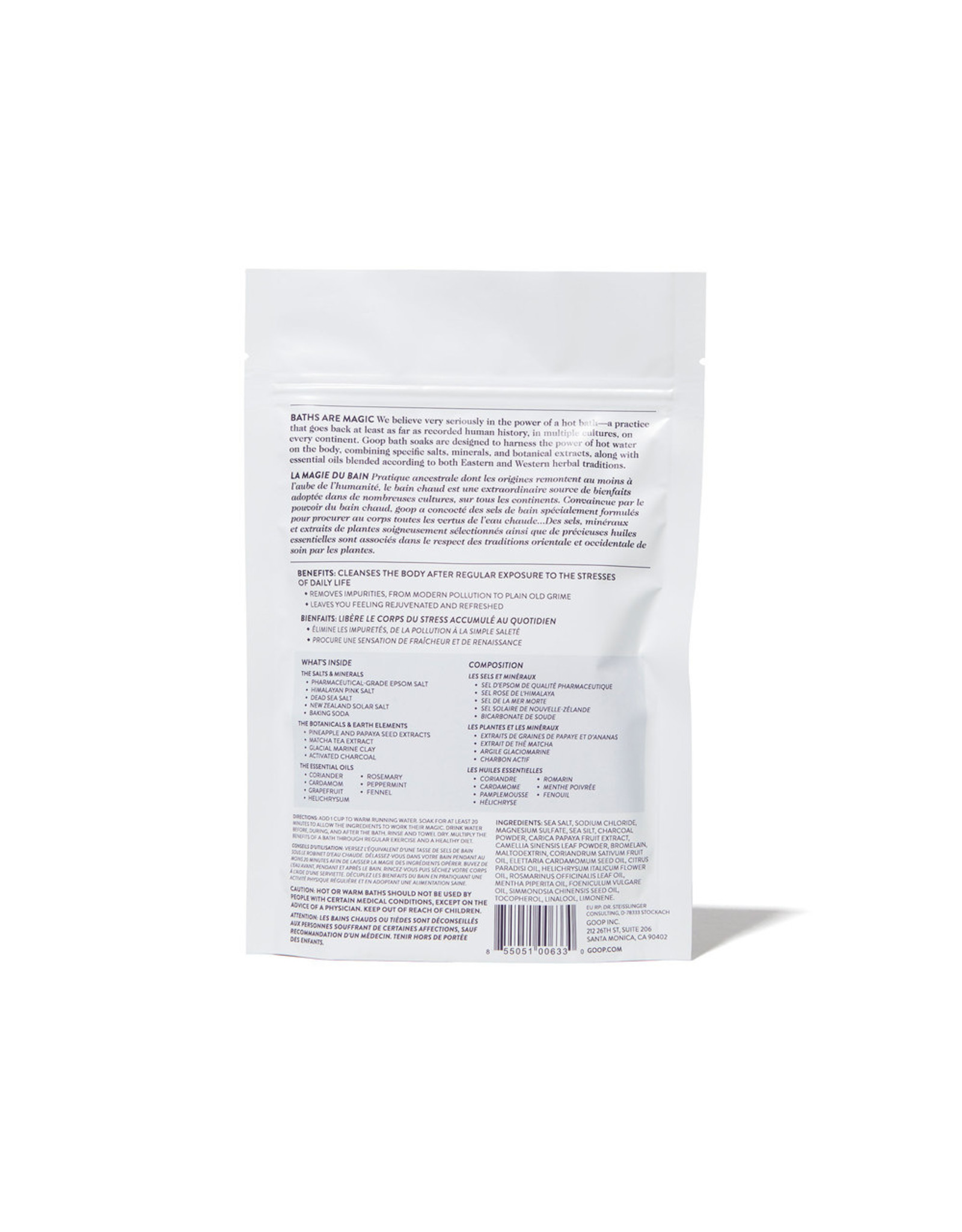 goop Body goop Beauty G.Tox Detox 5 Salt Bath Soak