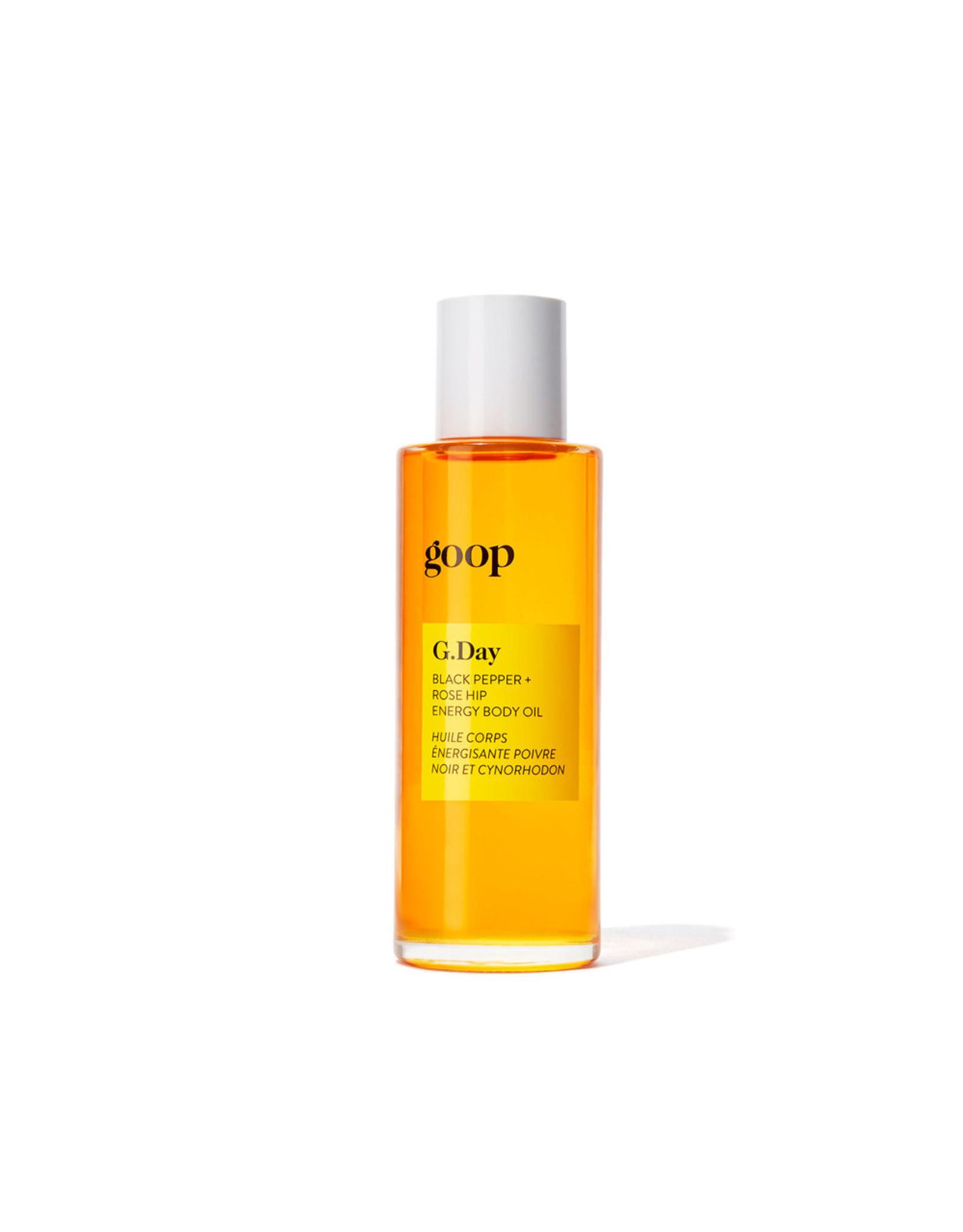 goop Body goop Beauty G.DAY Black Pepper + Rose Hip Energy Body Oil