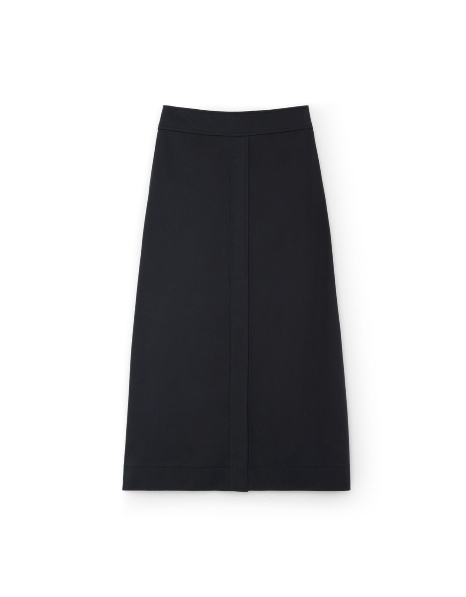 G. Label G. Label Stewart A-Line Cotton Skirt (Color: Navy, Size: 8)