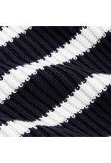 G. Label G. Label Lucy Striped Funnel-Neck Sweater (Color: Navy/White, Size: XS)