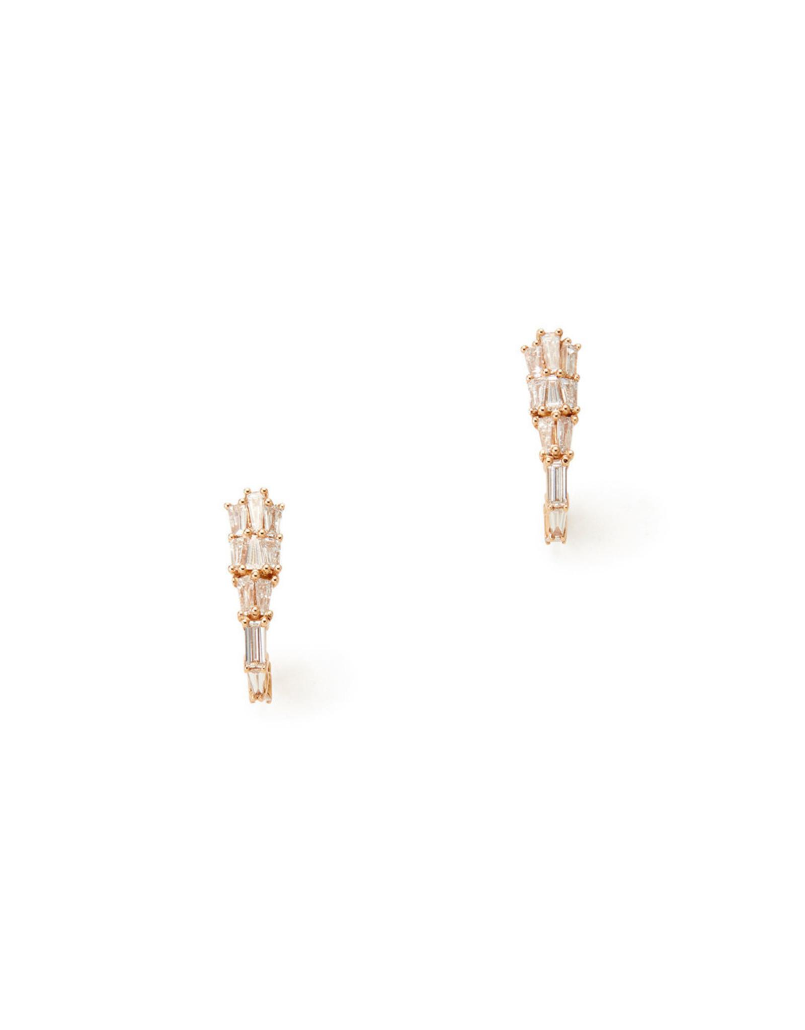 Nak Armstrong Nak Armstrong Rose-Gold Diamond Earring Clips (Color: White Diamond)