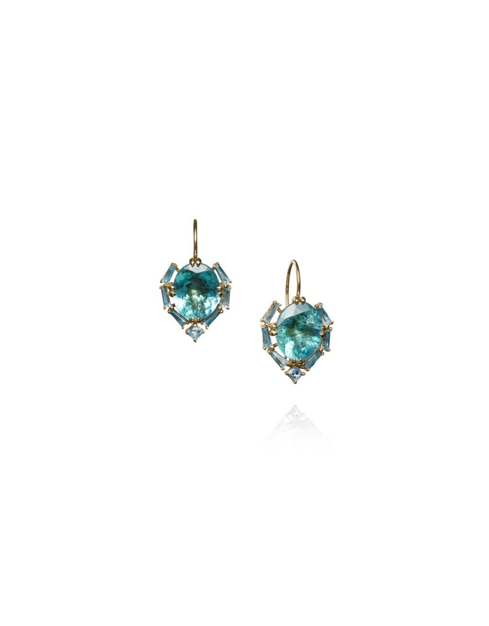 Nak Armstrong Nak Armstrong Satchel Earrings (Color: apatite, blue zircon)