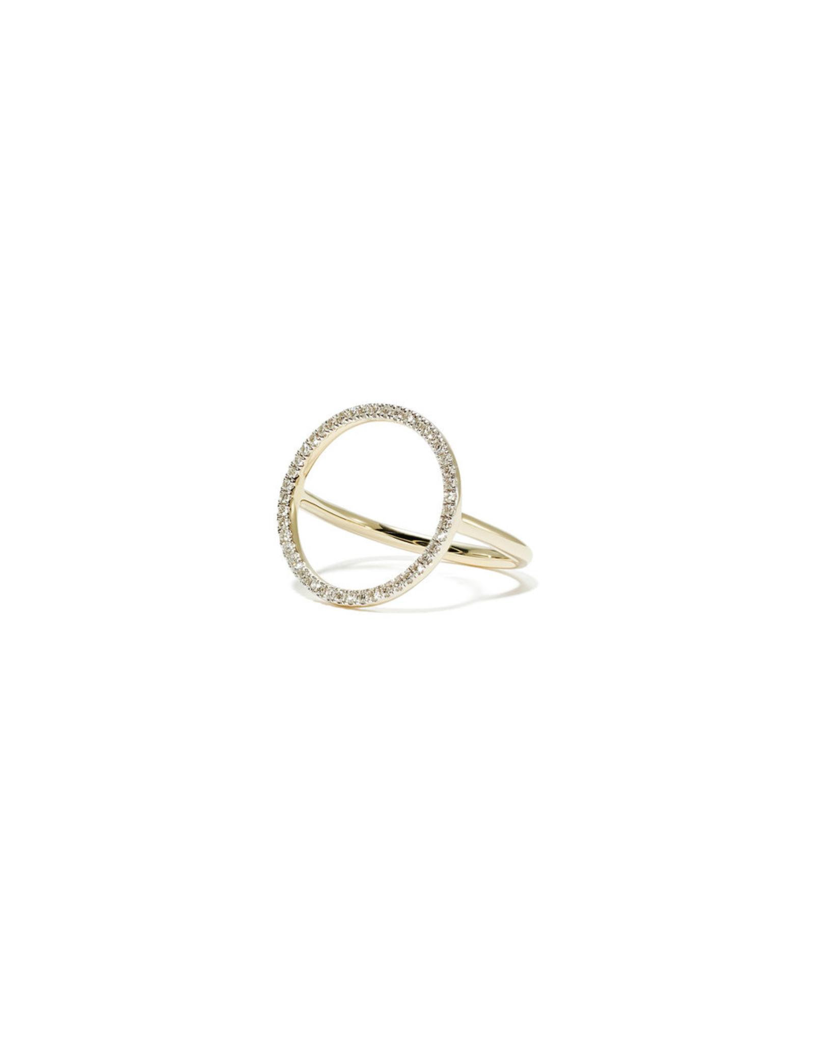 Eriness Eriness Diamond Circle Ring Yellow Gold 6