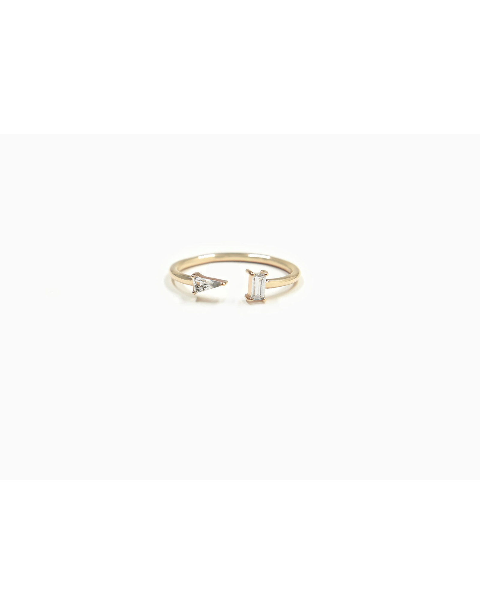 Bondeye Jewelry Bondeye Luna White Topaz Ring (Size: 6, Color: Yellow Gold / White Topaz)
