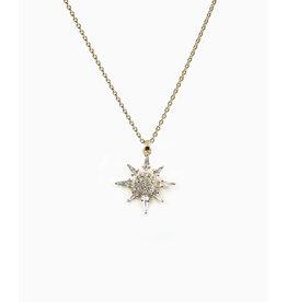 Bondeye Jewelry Bondeye Calypso Necklace (Color: Yellow Gold / White Diamond)