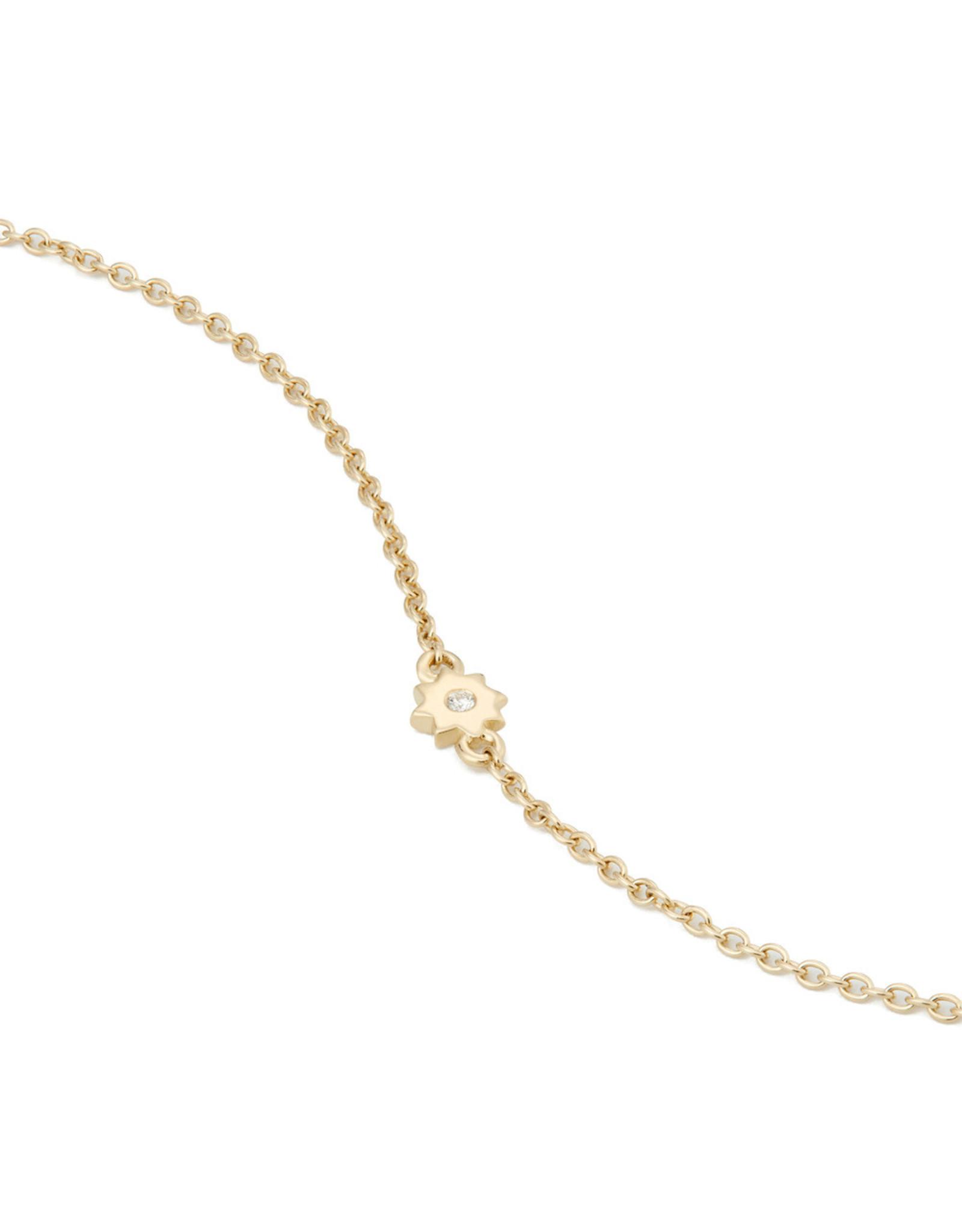 Bondeye Jewelry Bondeye Burst 14K Yellow-Gold Necklace (Color: Yellow Gold / White Diamond)