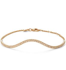 Bondeye Jewelry Bondeye Wave Bracelet (Color: Yellow Gold)
