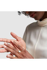 Bondeye Jewelry Bondeye Josie Yellow-Gold Signet Ring (Size: 4, Stone: Diamond)