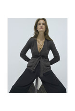 G. Label G. Label Jeanette Belted Cardigan (Color: Black, Size: XS)