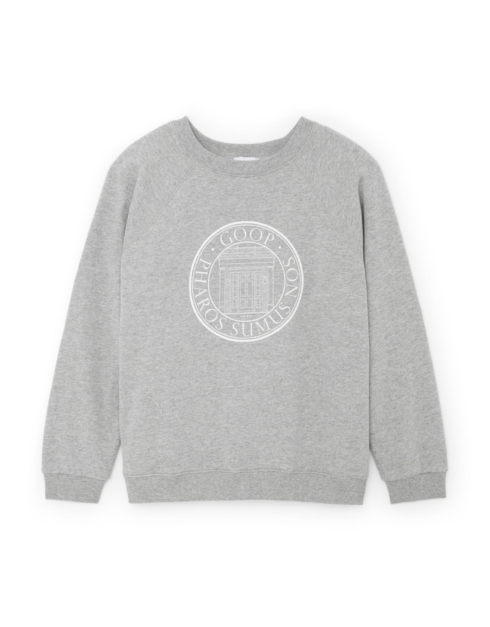 G. Label G. Label goop University Sweatshirt (Color: Grey Heather, Size: XS)