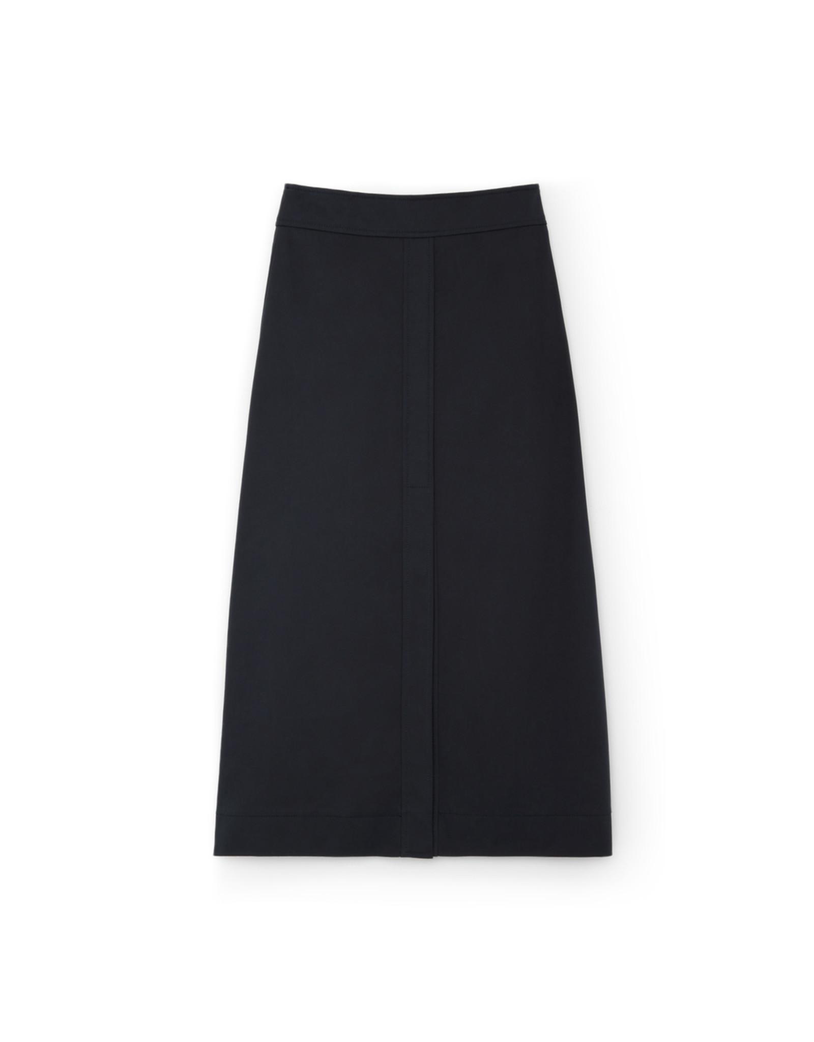 G. Label G. Label Stewart A-Line Cotton Skirt (Color: Navy, Size: 10)