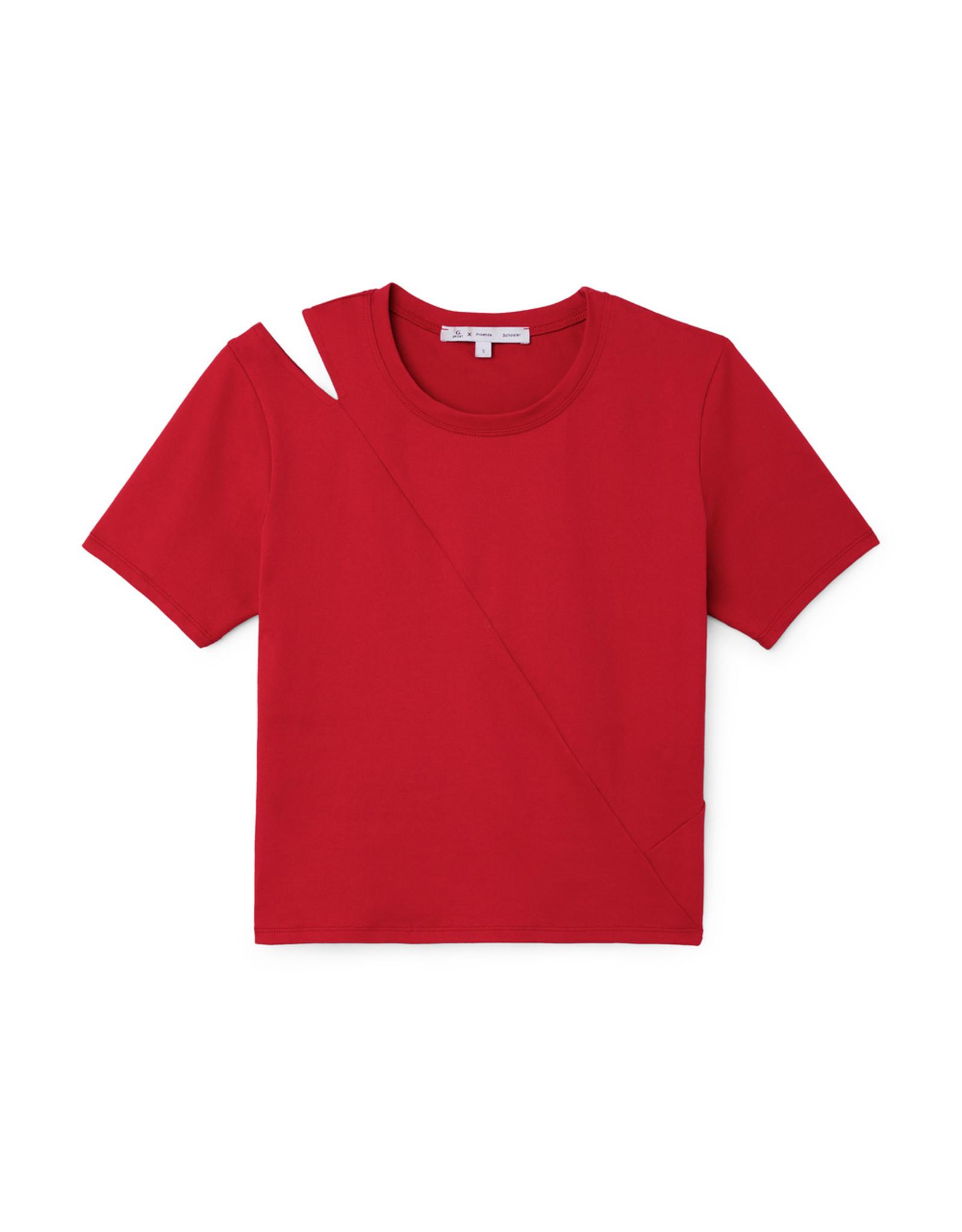 G. Sport x Proenza Schouler G. Sport x Proenza Schouler Short-Sleeve Cutout Top (Color: Red, Size: S)