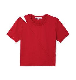 G. Sport x Proenza Schouler G. Sport x Proenza Schouler Short-Sleeve Cutout Top (Color: Red, Size: L)