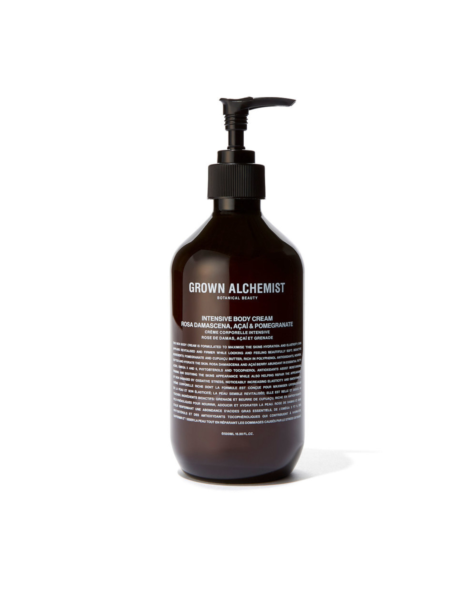 Grown Alchemist Intensive Body Cream: Rosa Damascena, Acai & Pomegranate - 500ml