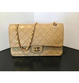 What Goes Around Comes Around CHANEL BEIGE LAMBSKIN 2.55 10'' (Color :Beige)