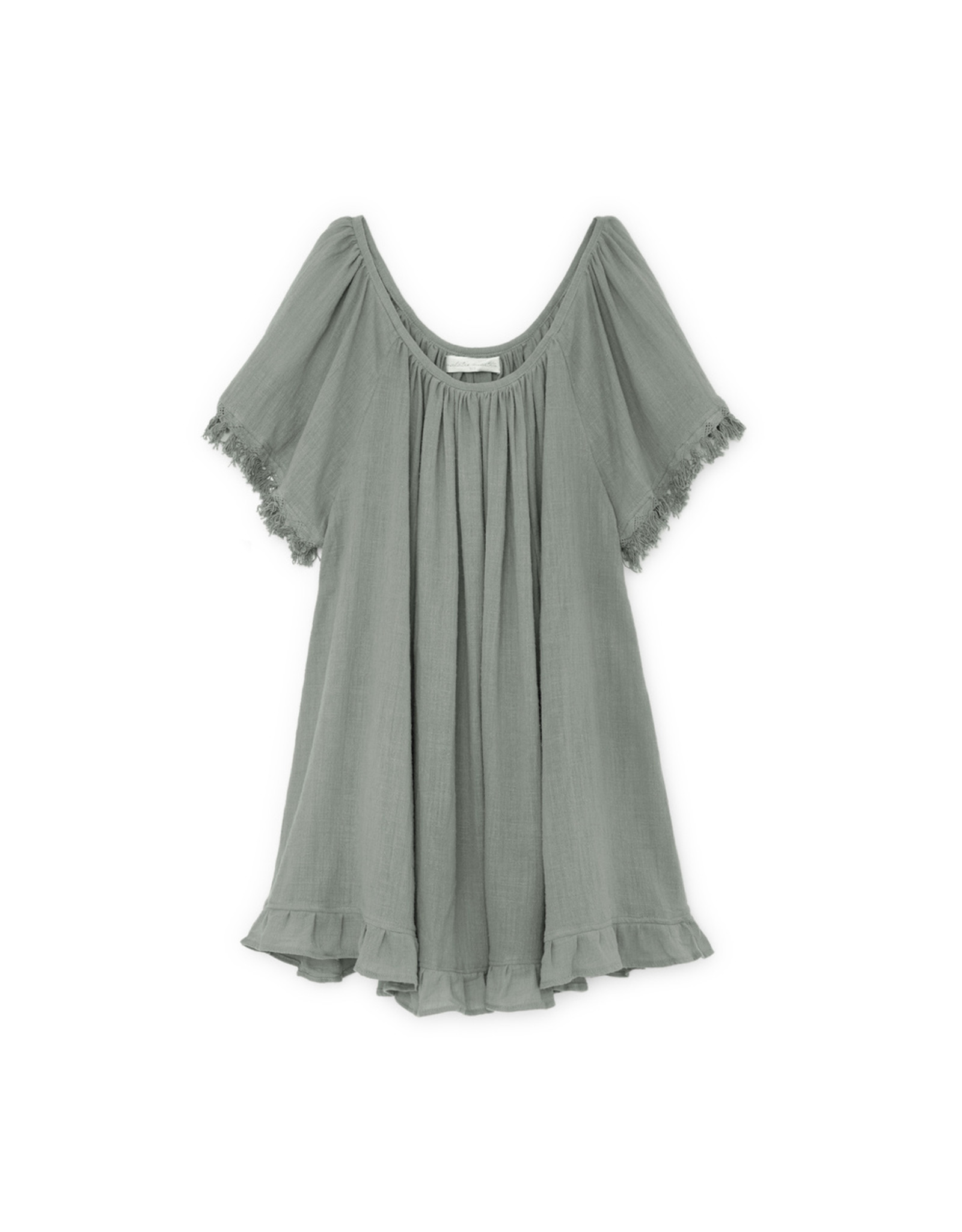 goop x Natalie Martin Marina Dress - Sage Cotton Gauze (One Size)