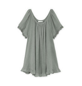 goop x Natalie Martin Natalie Martin Marina Dress - Sage Cotton Gauze (One Size)