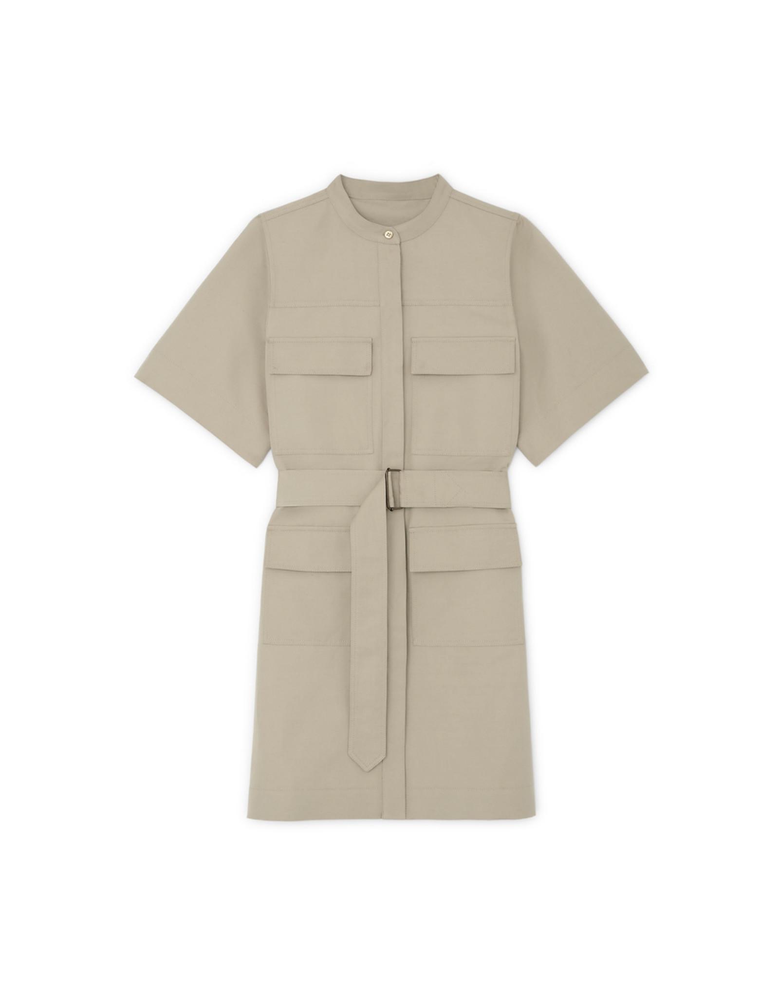 G. Label Umbria Utility Shirtdress (Color: Khaki, Size: L)