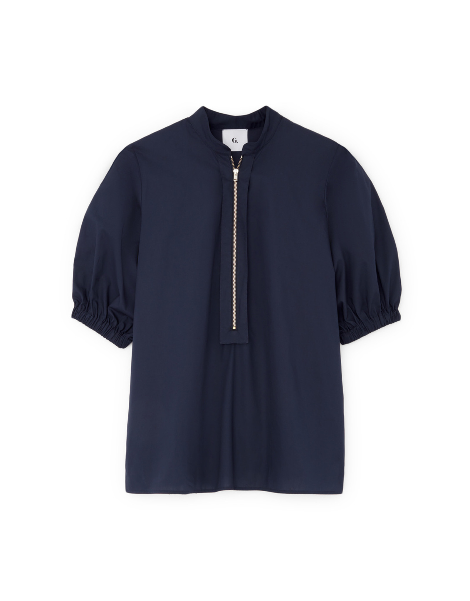 G. Label Anjelica Zip Front Top (Color: Navy, Size:4)