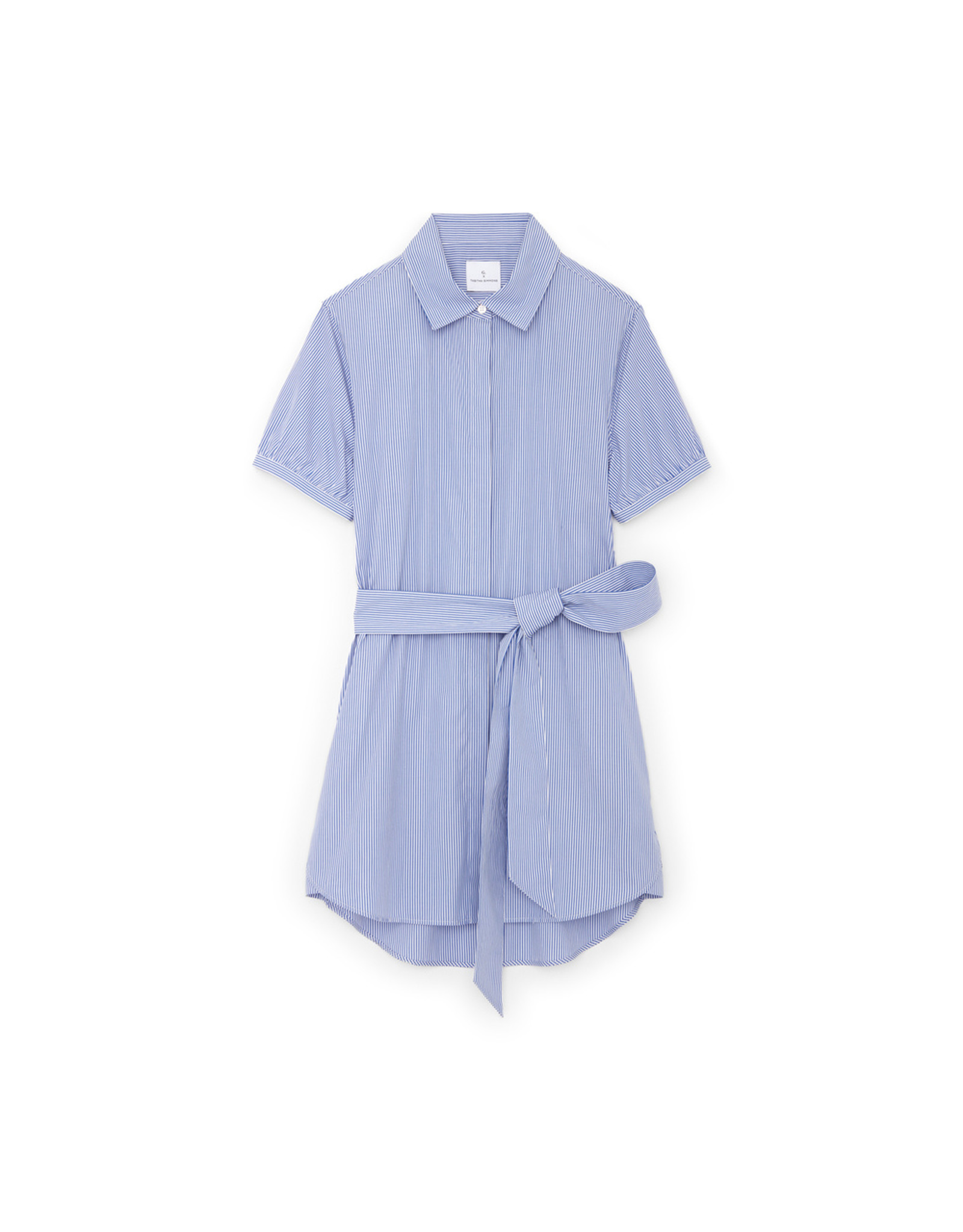 G. Label Cusco Mini Shirt Dress (color: Blue & White Stripe, Size: L)