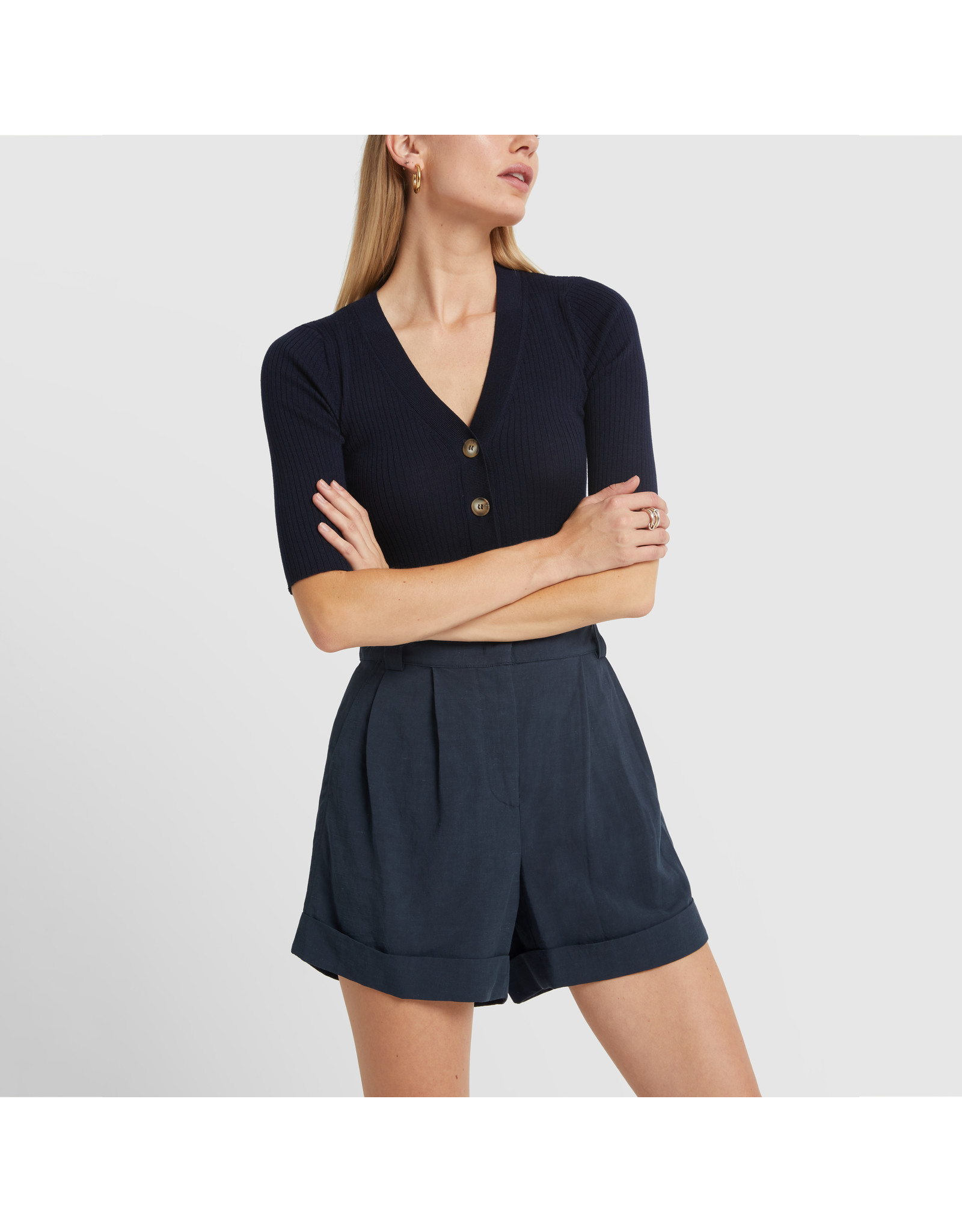 G. Label G. Label Marty High Waist Short (Color: Navy, Size: 6)