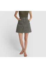 G. Label G. Label Pearson Flared Mini Skirt (Color: Army Green, Size: 27)