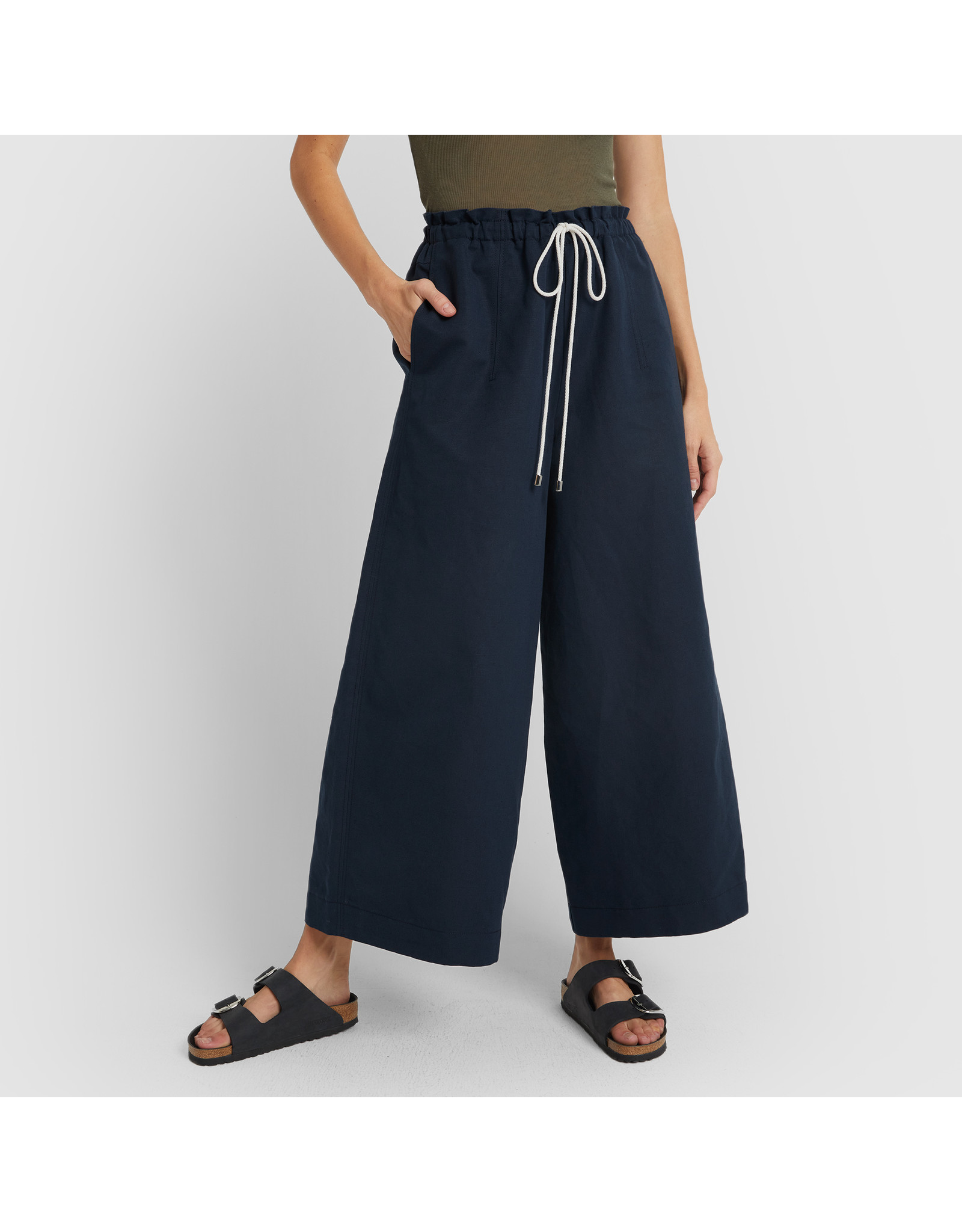 G. Label G. Label Dani Wide Leg Drawstring Pant (Color: Navy, Size: 2)