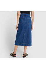 G. Label G. Label Yu Denim Pencil Skirt (Color: Medium Blue Wash, Size: 25)