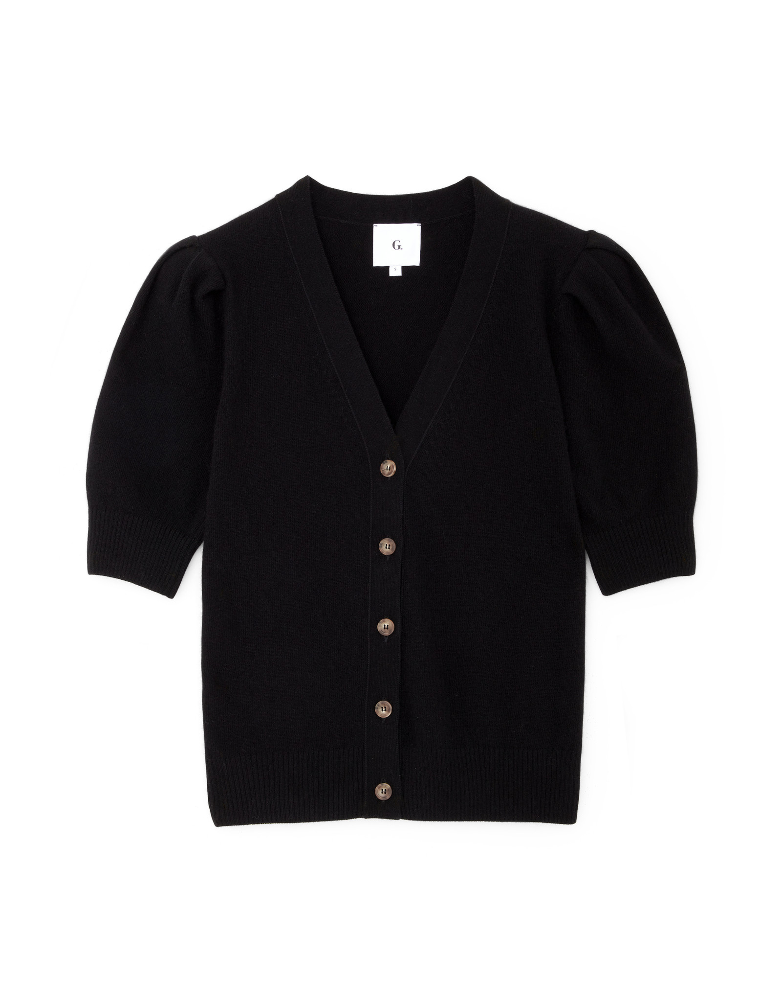 G. Label G. Label Juliette Short Sleeve Cardigan (Color: Black, Size: S)