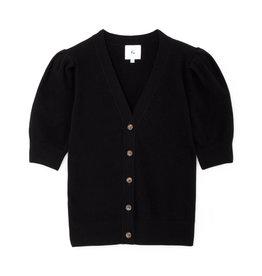 G. Label G. Label Juliette Short Sleeve Cardigan (Color: Black, Size: L)