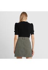G. Label G. Label Juliette Short Sleeve Cardigan (Color: Black, Size: XL)