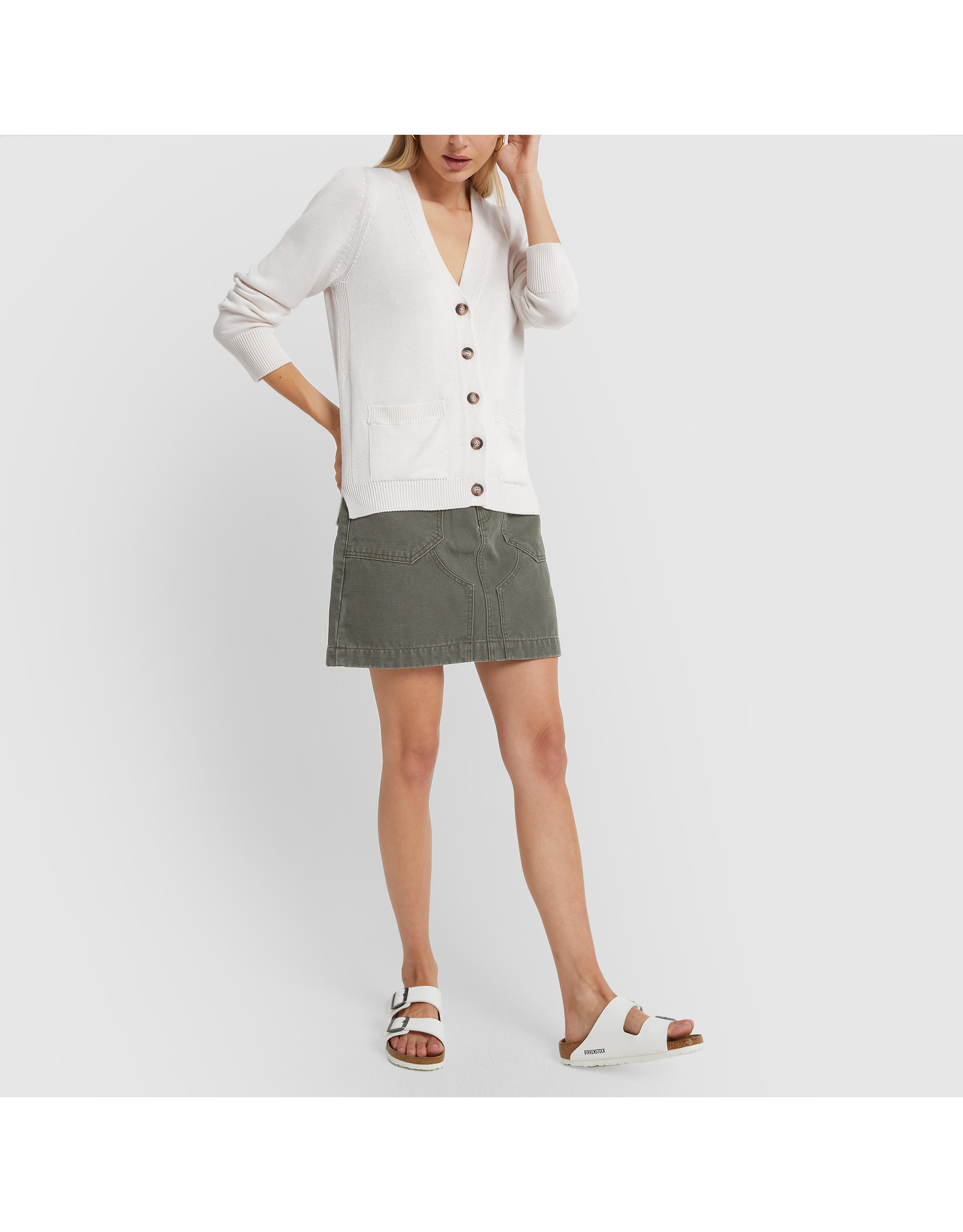G. Label G. Label Lightweight Erica Cardigan (Color: White, Size: S)