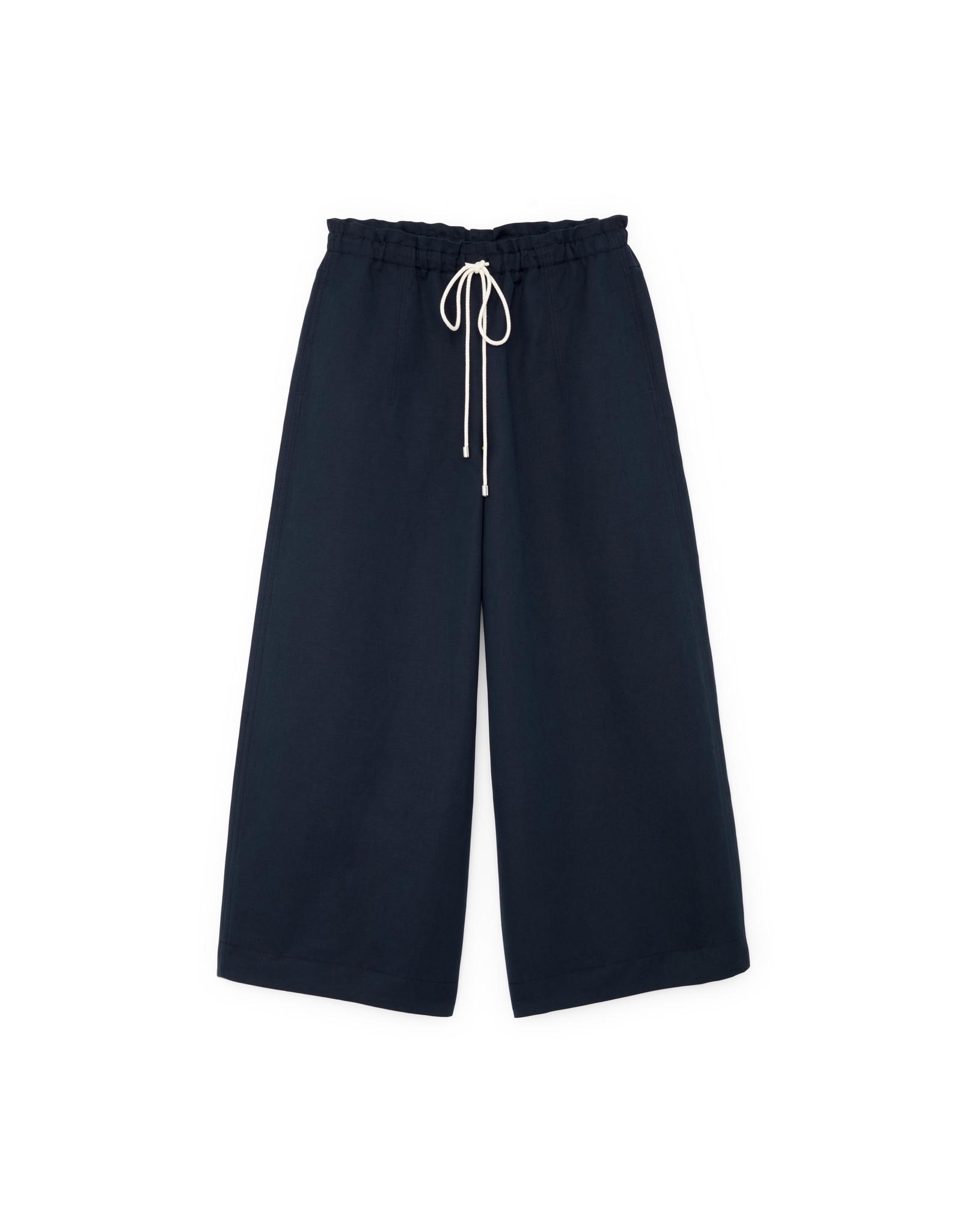 G. Label G. Label Dani Wide Leg Drawstring Pant (Color: Navy, Size: 2)