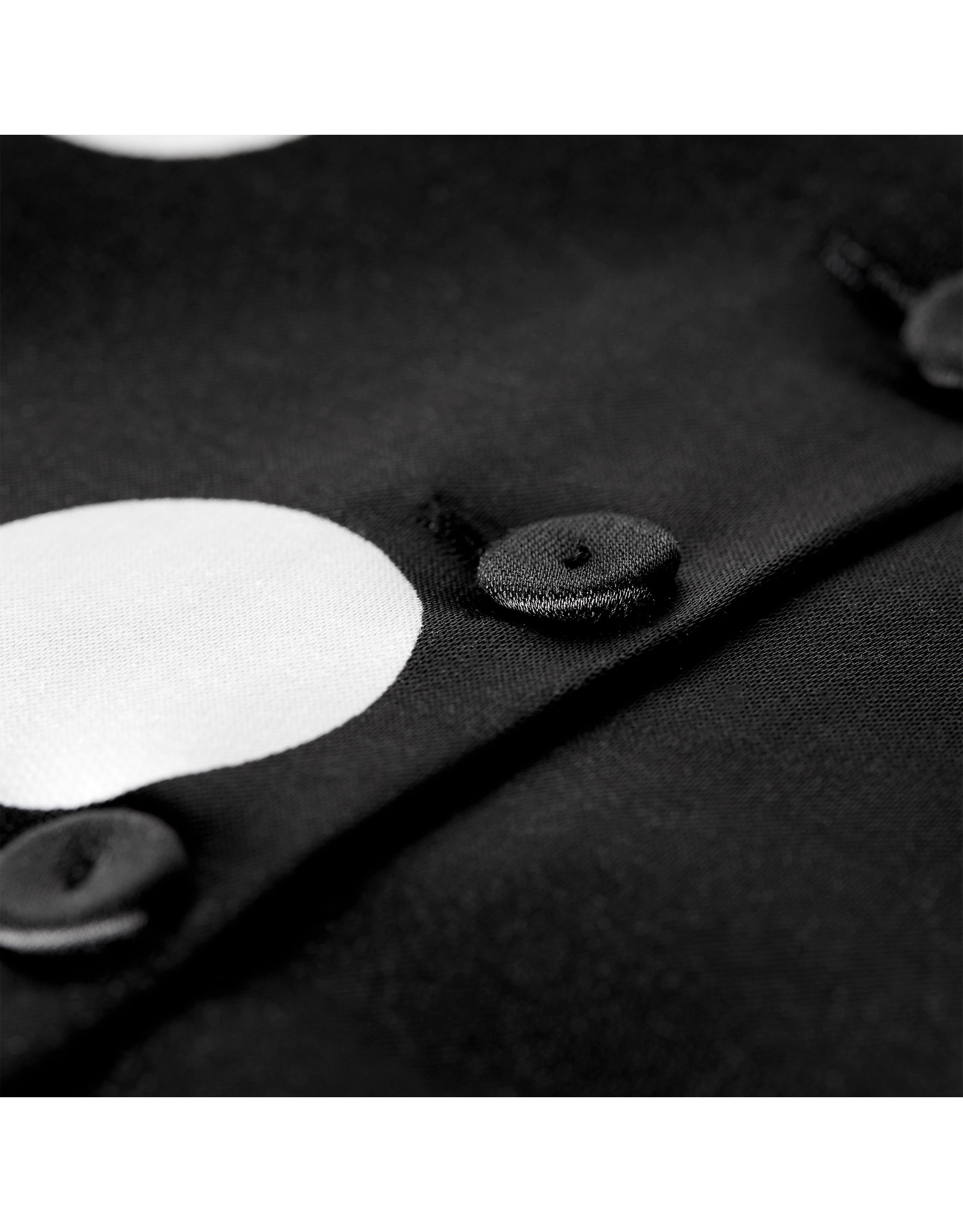 G. Label Devin Crop Top (Color: Black/White Dot Print, Size: 6)