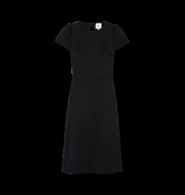 G. Label G. Label Ficchi Puff Sleeve Keyhole Back Dress (Color: Black, Size: 4)