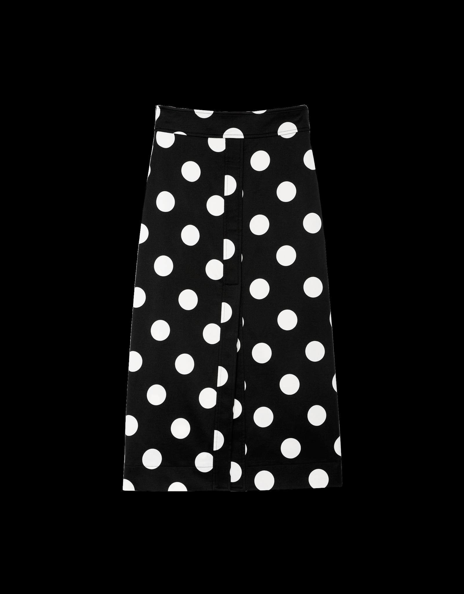 G. Label Danielson A-Line Polka-Dot Skirt (Size: 6)