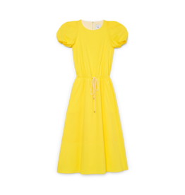 G. Label G. Label Zelda Rounded-Sleeve Drawstring Dress (Color: Yellow, Size: 0)