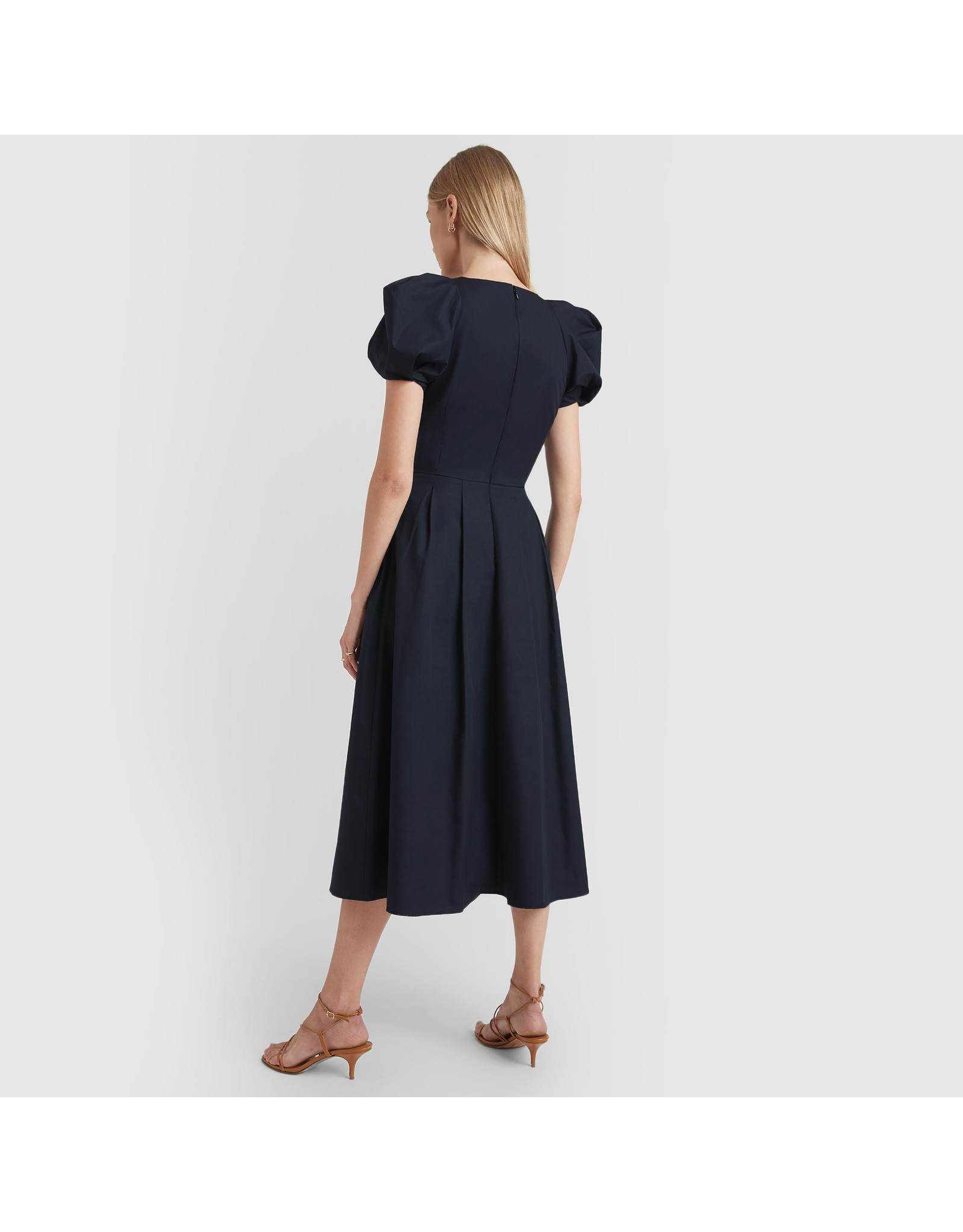 G. Label Elle Rounded Sleeve Mid Length Dress (Color: Navy, Size: 0)