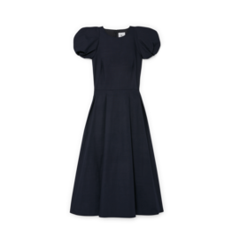 G. Label G. Label Elle Rounded Sleeve Mid Length Dress (Color: Navy, Size: 0)
