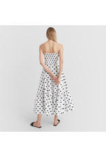 G. Label Zera Strapless Tiered Dress (Color: White & Black Dot Print, Size: 4)