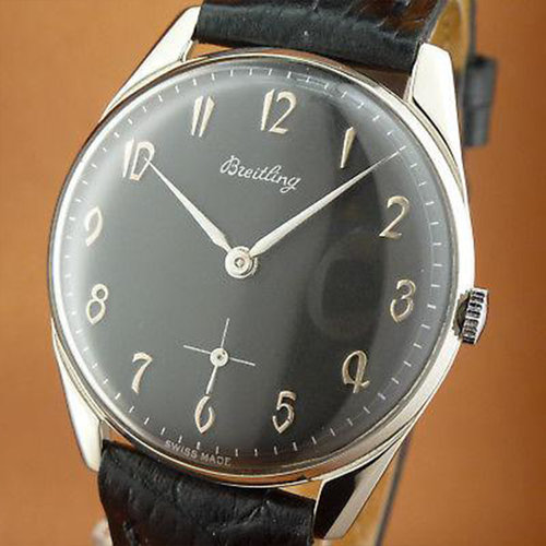 Breitling 1950's Vintage Mechanical Watch With Arabic Numerals