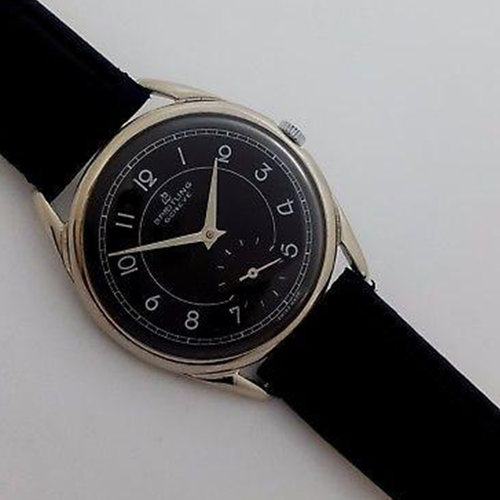 Breitling Vintage Mechanical with Beautiful Black Dial