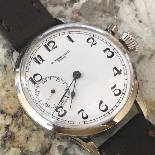 Audemars Piguet Pre-1920 Movement with Custom Wristwatch Case