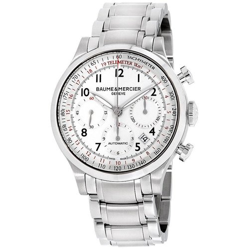 Baume & Mercier Capeland White Dial Stainless Steel
