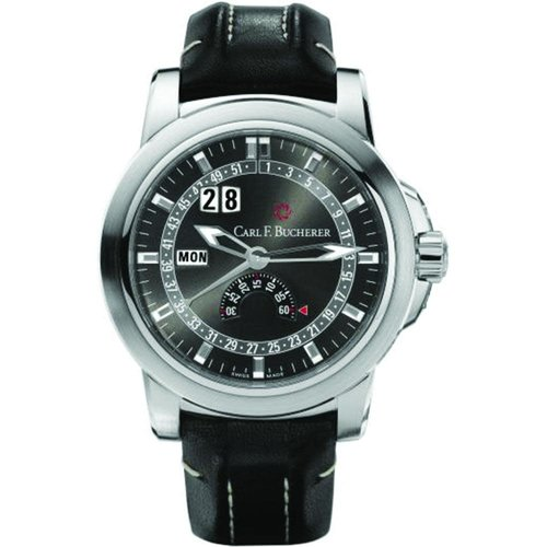 Carl F. Bucherer Patravi Black Dial with Silver-Tone Hands