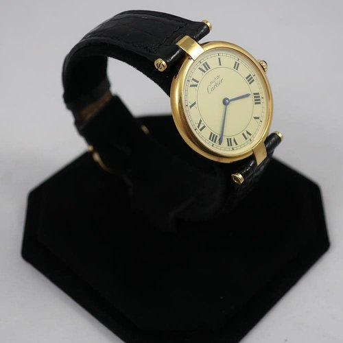 Cartier Must de Cartier Ladies Watch Gold Vermeil  Circa 1990s