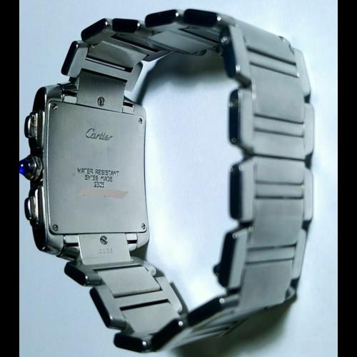 Cartier Tank Francaise Chronoreflex Stainless Steel Bracelet Quartz