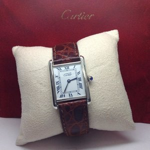 Cartier 18kt. Gold Plated Tank Watch