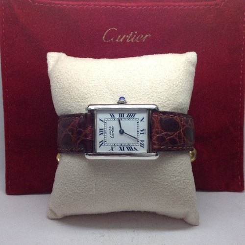Cartier Vintage 18k Gold Plated Tank Watch